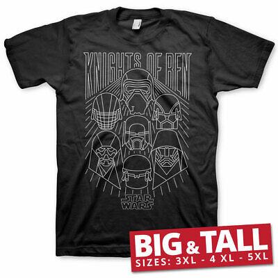 Officially Licensed Star Wars IX - Knights Of Ren BIG & TALL 3XL,4XL,5XL T-Shirt
