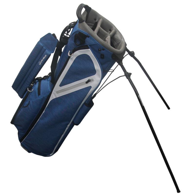 TaylorMade Golf 2020 FlexTech Lite Single Strap Stand Bag Blue/Gray
