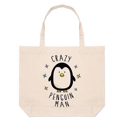 Crazy Pingüino Hombre Grande Bolso Playa Bolsas - Divertido Animal BONITO, usado segunda mano  Embacar hacia Spain