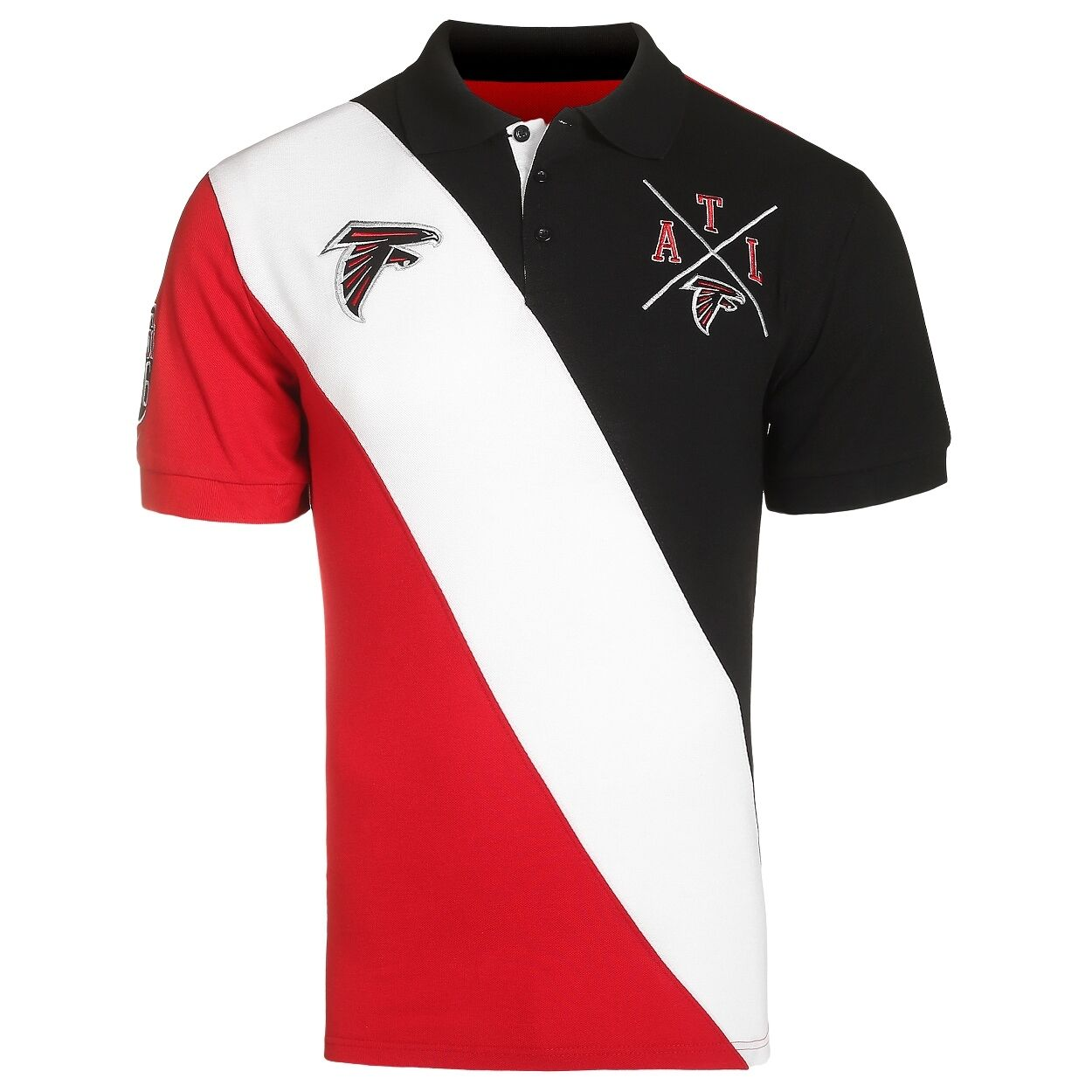 NFL Football Team Logo Rugby Polo Diagonal Collared Shirt - Pick Your Team!