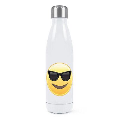 Doppel-wand-wasser (Sonnenbrille Emoji Doppelwand Wasserflasche Lustig Smiley Gesicht Thermo)