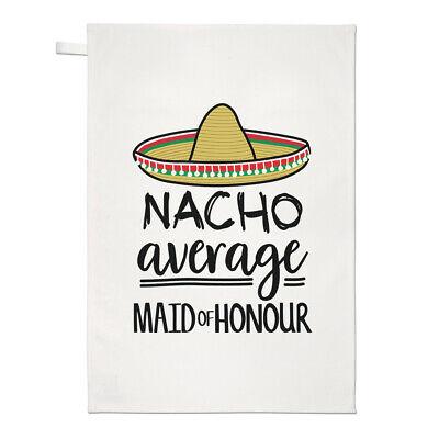 Nacho Media Dama de Honor Té Toalla Plato Paño Worlds Best Boda...