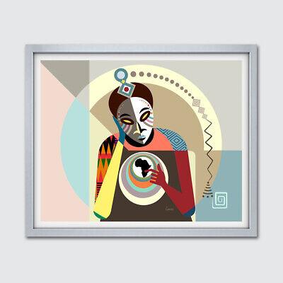 Kwanzaa Decorations (Art Black Conscious African American Abstract Modern Mask Kwanzaa Decor)