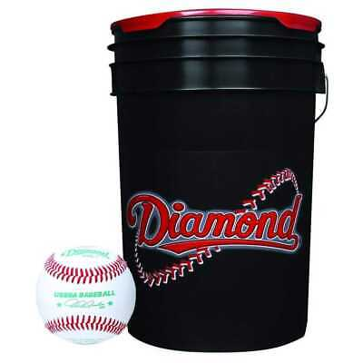 60 - 5 DOZ Diamond Sports Baseball & Ball Bucket Combo DOL-1 USSSA Game-Practice