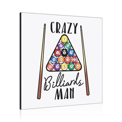 Verrückte Billard Man Kunst Panel Rahmen Lustig Witz ()