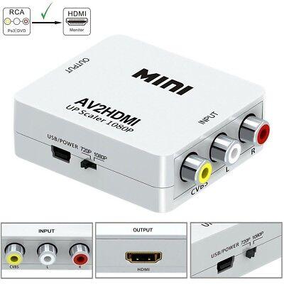 Mini Rca Av To Hdmi Converter Adapter Composite Av2hdmi Converter 1080P Hdtv Dvd