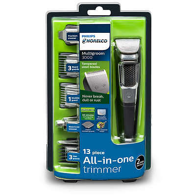philips norelco all in one trimmer multigroom beard stubble hair nose ear guards ebay. Black Bedroom Furniture Sets. Home Design Ideas
