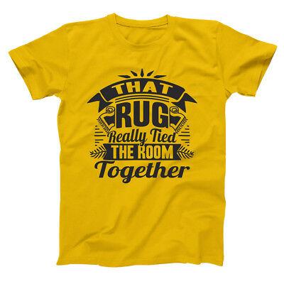 Really Tied The Room Big Lebowski  Humor  Movie Gold Basic Mens T Shirt