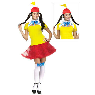 Tweedle Dum And Dee Costumes (Tweedle Dee and Tweedle Dum Womens Costume Adult Alice In Wonderland)