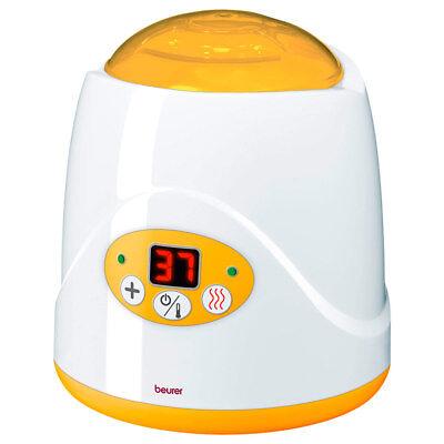 BEURER Flaschenwärmer mit Digitalanzeige Digitaler Babykostwärmer Baby weiß gelb