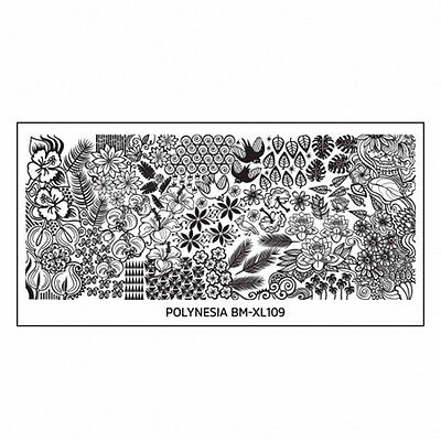 Bundle Monster XL Stamping Schablone Plate BM-XL-109 Flower Blumen