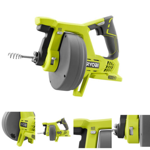 Ryobi Drain Auger 18 Volt One+ Cordless Snake Cleaner Plumbing Clog Tool Only