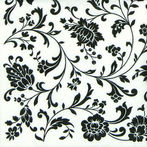 4x paper napkins arabesque white and black for party - Butterfly world com table tennis ...