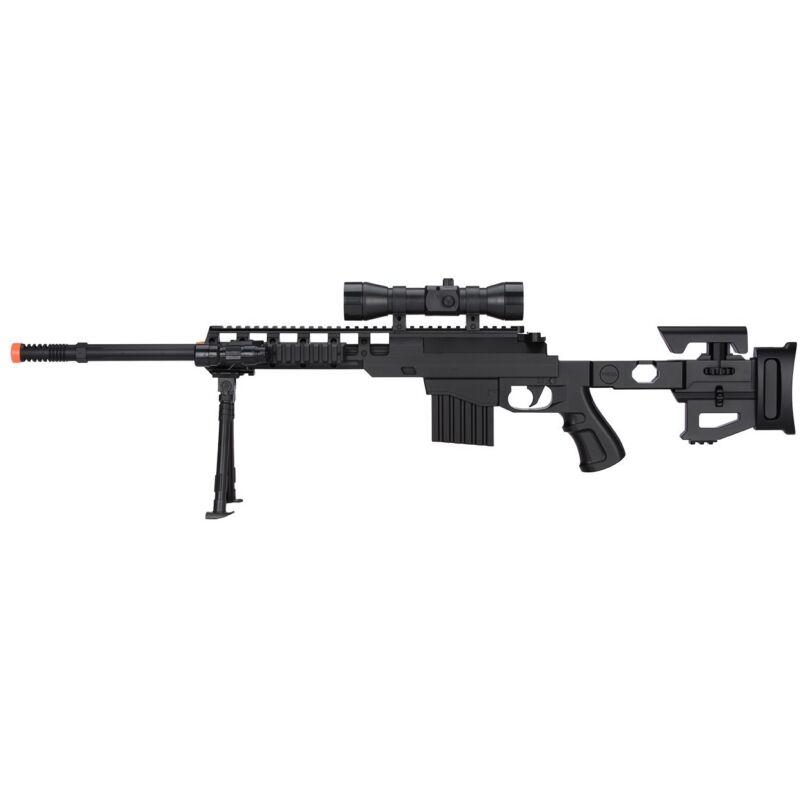 350 FPS SPRING AIRSOFT SNIPER RIFLE GUN w/ 6mm BB BBs Scope Laser Light Bipod