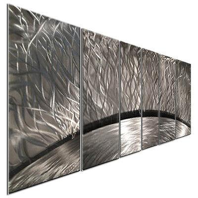 Abstract Metal Wall Art Sculpture Silver Sun Rays Home Decor Ash Carl