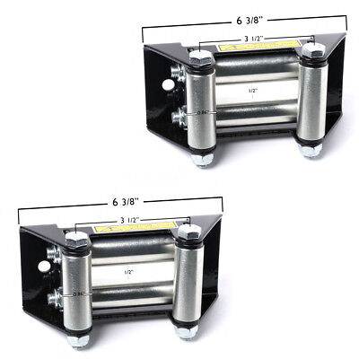 "Pair (2) ATV Winch Roller Fairlead 4 Way Cable Lead Guide 4-7/8"" Bolt Pattern for sale  Shipping to Canada"