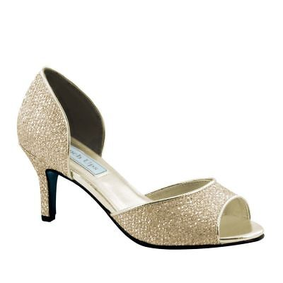 Touch Ups Womens Jolee Mid Heel Pump Champaign Size 7 #NCM28-M51