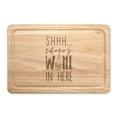 Shhh es Gibt Wein Hier Weiß Rechteckig Holz Schneidebrett - Lustig