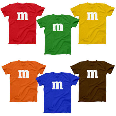 M & Candy Costume Set Funny Humor Halloween Group Soft Blend Men's tee T-Shirt - Funny Group Halloween Costumes For Men