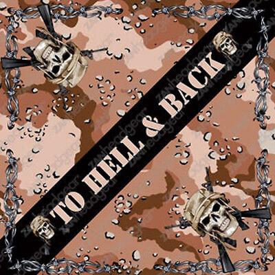 Hell and Back Camo Design ZANheadgear Brand Bandana Head Sca