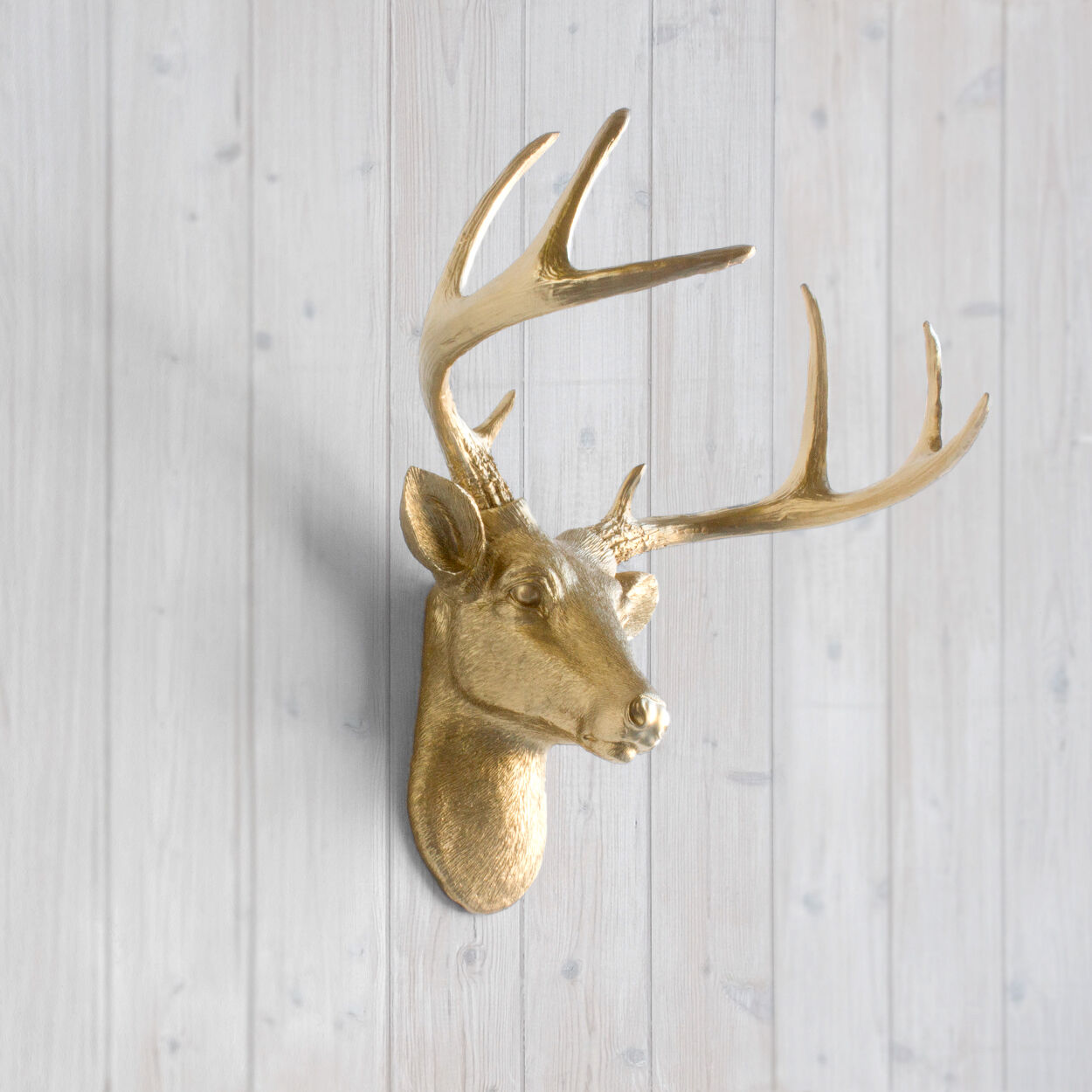Wall Charmers Gold Mini Deer Faux Head Fake Animal Stag