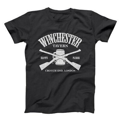 Funny Movie Costume (Winchester Tavern Funny  Zombie  Movie  Costume  Humor Black Basic Men's)