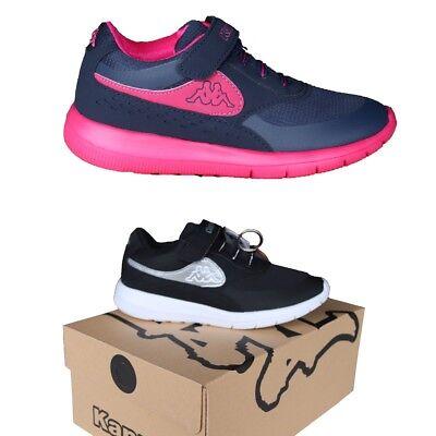 KAPPA MILLA Kinder Sneaker Schuhe Unisex Pink Navy Schwarz Klettverschluss 28-35 Unisex Navy Schuhe