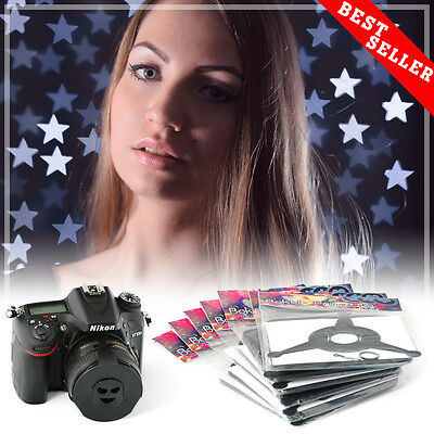 Bokeh Kit Special Effects System Prime, 72 shapes universal holder. 49-62mm lens