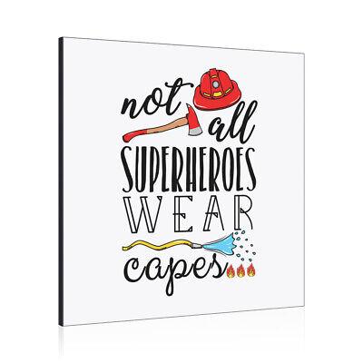 Feuerwehrmann Nicht Alle Superhelden Tragen Capes Kunst Panel Rahmen