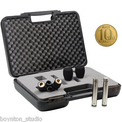 Rode NT5 Matched Pair Cardioid Small Diaphragm Condenser Mics ~ MINT CONDITION!! Matched Pair Cardioid Condenser