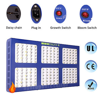MEIZHI Reflector 900W LED Grow Light Hydroponic Full Spectrum Veg Bloom Switches