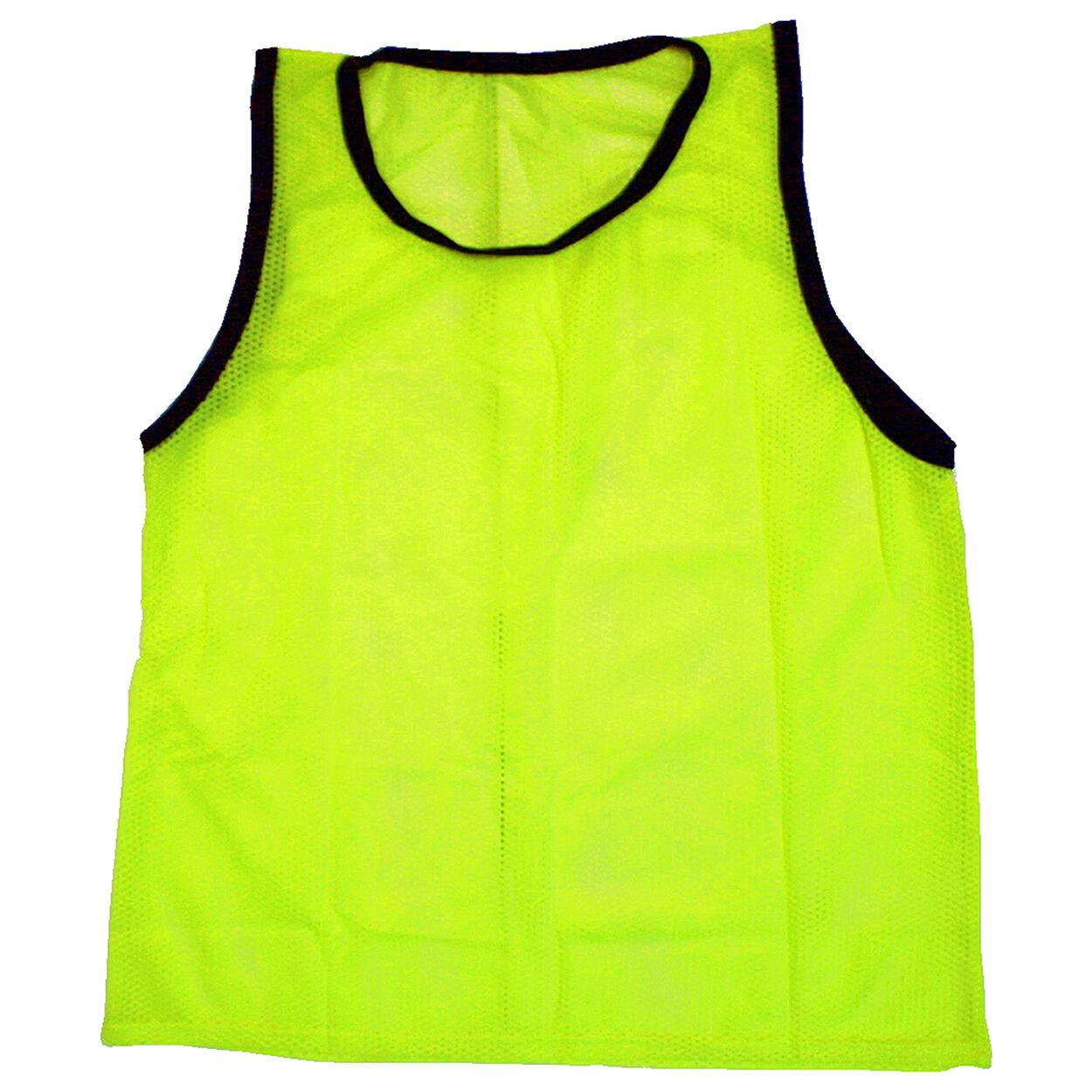 Adult Yellow Scrimmage Training Vests Pinnie Uniform