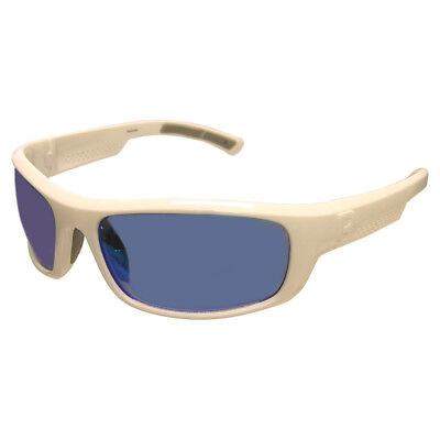 Reebok Classic 2 Golf Sunglasses, White Frame/Blue Mirror (Reebok Sunglasses)