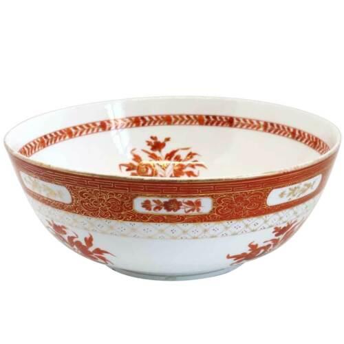 Antique Russian Gardner Persian Market Iron Red & Gilt Porcelain Bowl c. 1870