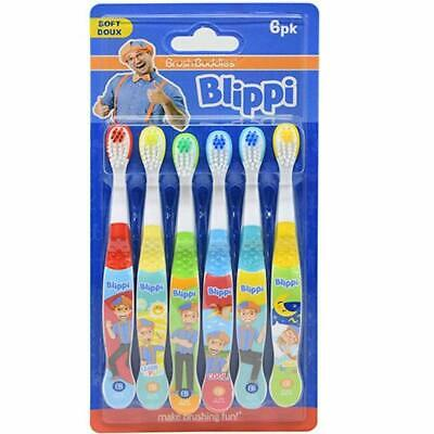 Blippi 6-Pack Manual Toothbrushes - $8.95