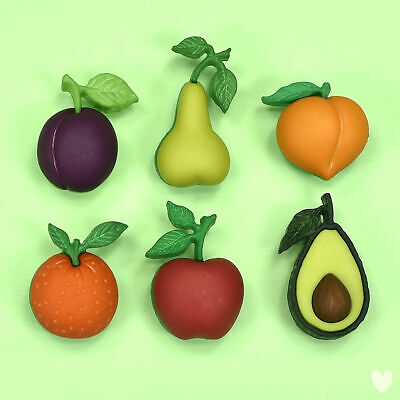 DRESS IT UP Buttons Farm Fresh 10414  -  Fruit Apple Pear Apricot Avacado Orange