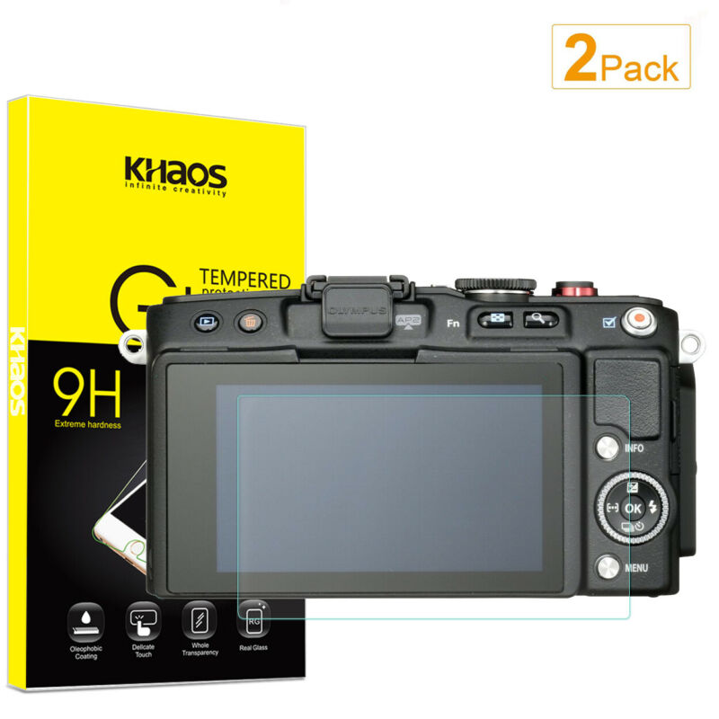 2-Pack Khaos For Olympus E-PL6 / E-PL5 / E-PM2 Tempered Glass Screen Protector