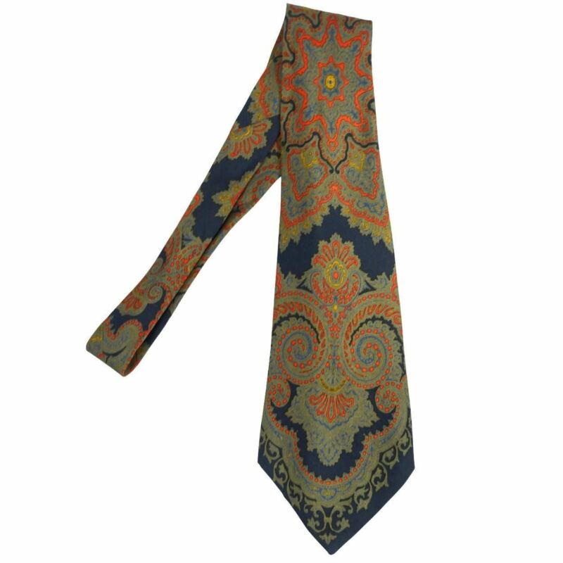 Vintage 70s Pierre Cardin Silk Tie Made in France Necktie