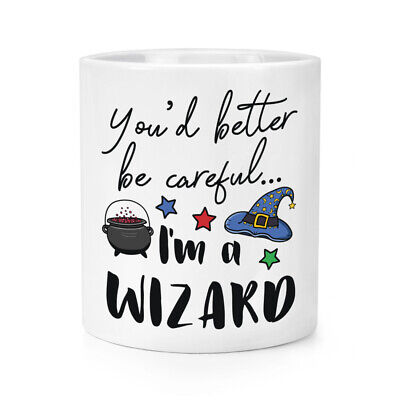 Dir 'D Better Be Careful I'M A Wizard Make-Up Pinsel Bleistift Lustig