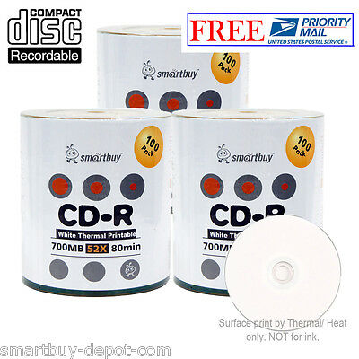 Smart Buy 300-pack Smartbuy Cd-r 52x 700mb/80min White Th...