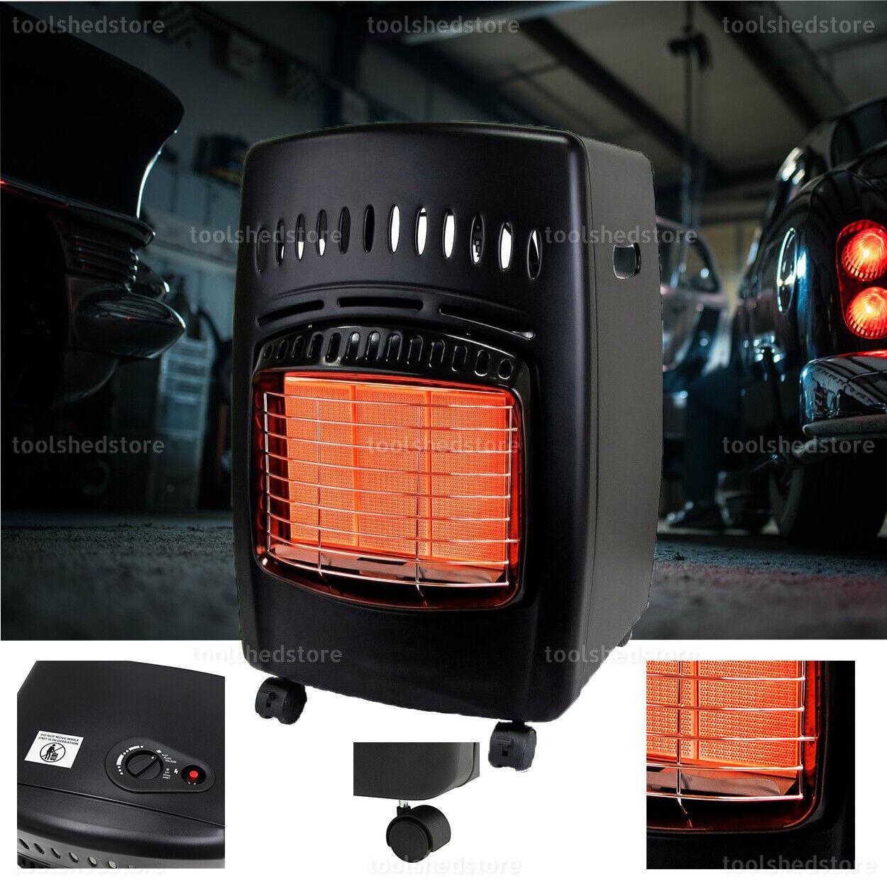 NEW Propane Gas Portable Heater 18000 BTU Indoor Locking Cas