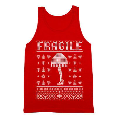 Fragile Lamp Christmas Story Leg  Outfit  Xmas  Costume  Cute Red Tank Top](Leg Lamp Costume)