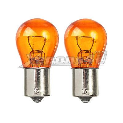 LUMRO Original BAU15S PY21W 581 Amber Turn Signal  Indicator Flasher Light Bulbs