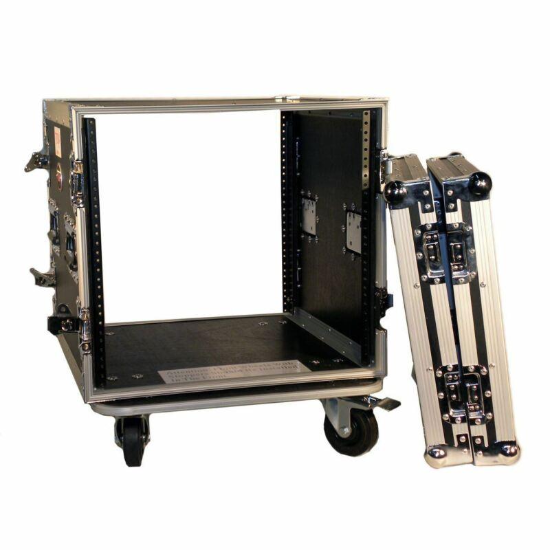 "Pro X T-10RSS 10U Space ATA Equipment Rack Case w/4"" Wheels/Casters"