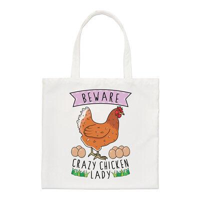 Hüten Sie sich vor verrückt Huhn Damen kleine Beutel - lustig Tier (Huhn Hüte)