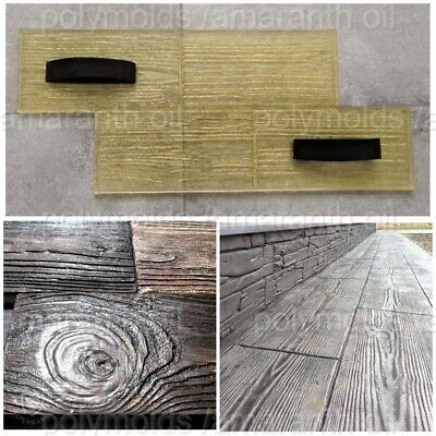 Concrete Texture Stamp Mat Polyurethane Printing On Cement Board Wooden Plank