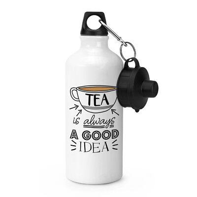 Tee Ist Immer eine Gute Idee Sport Getränkeflasche - Lustig Earl Grey Englisch