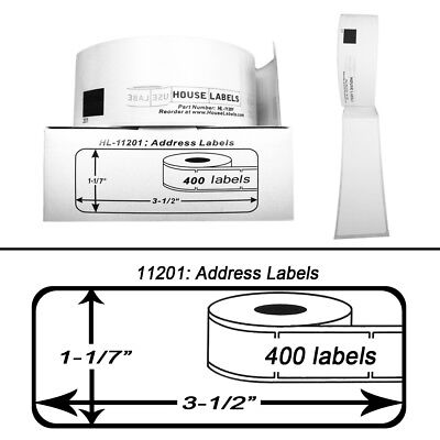 Non-oem Fits Brother Dk-1201 Labels 1-17 X 3-12 - 6 Rolls Of 400