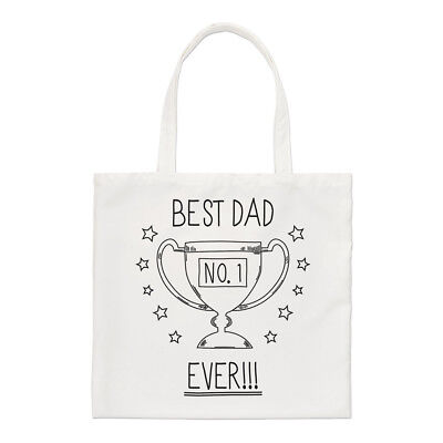 Best Dad Ever No.1 Regular Tote Bag Funny Father's Day Shopper