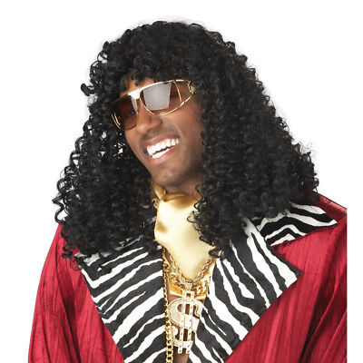 Rick James Wig Super Freak Black Curly Dave Chappelle Show Costume 70's - Rick James Costume